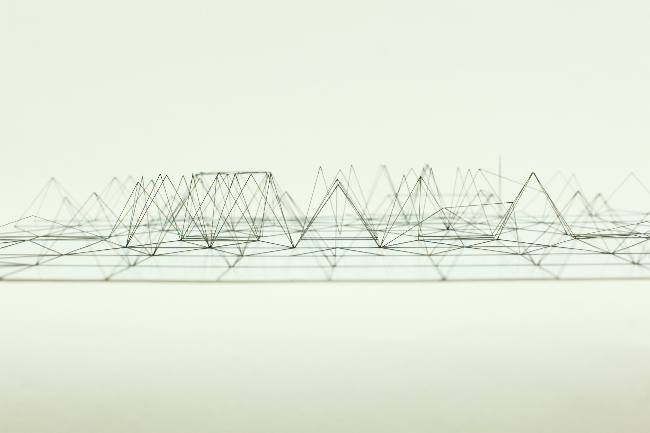 Space Sketch 1 / 2011 / Mechanical pencil lead refill, Graph paper / 54x78x15 cm