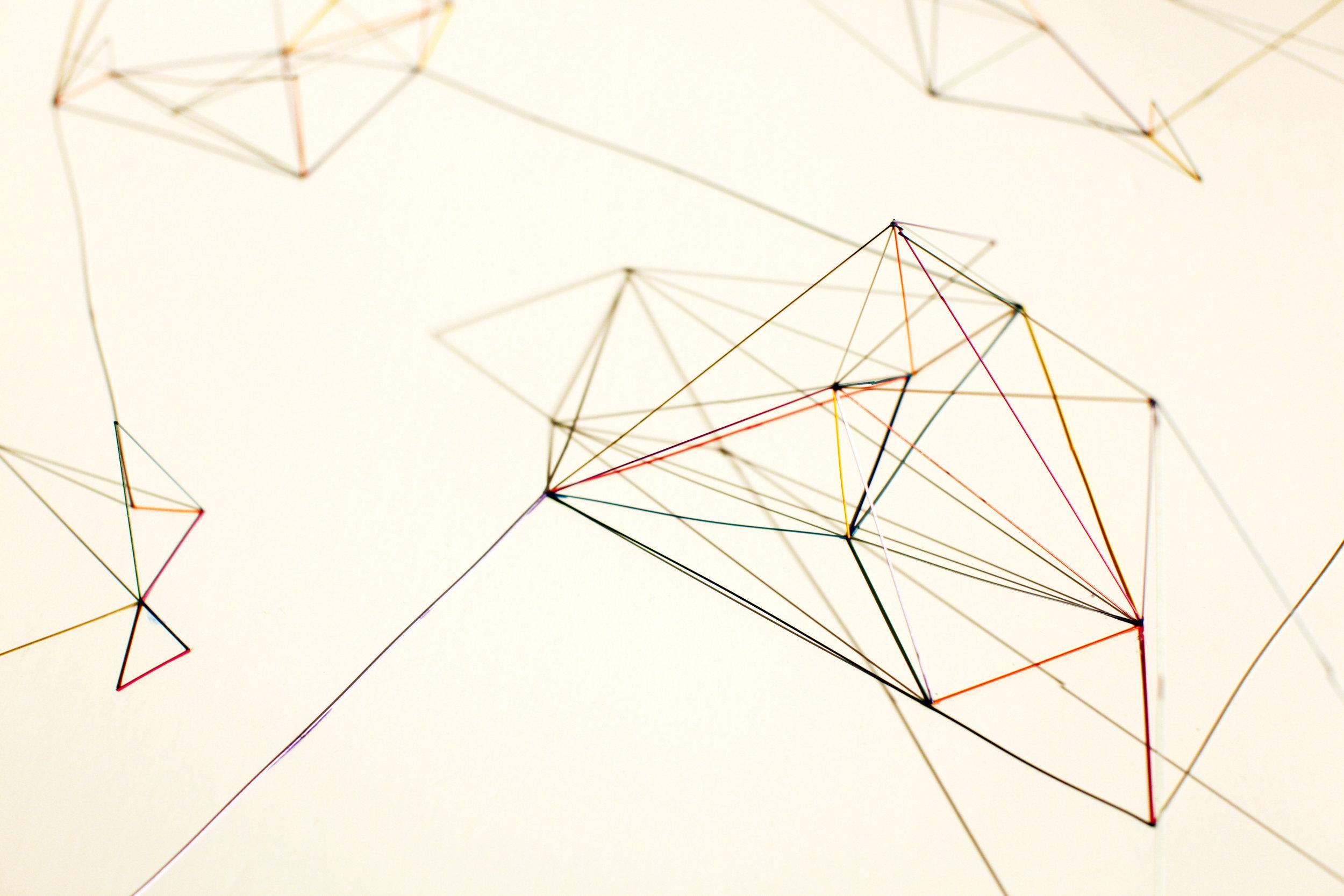 Space Sketch 2 / 2011 / Mechanical pencil lead refill, Graph paper / 54x78x15 cm