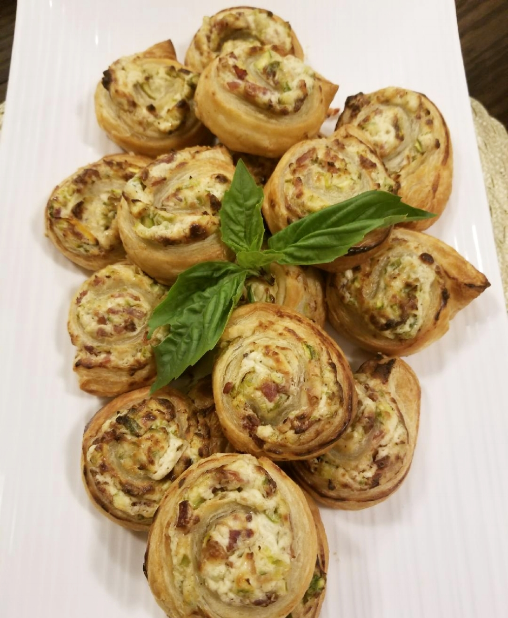 Asparagus-Bacon Puff Pastry Swirl