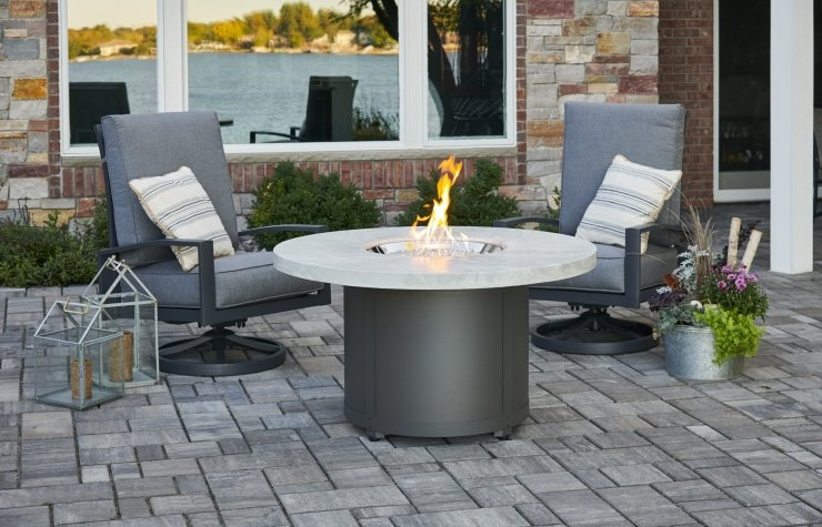 Choose from our HUGE selection of Fire Tables - Visit our showroom in Edmonton and find the perfect fire table, including, Chat, Dining and Bar height styles!