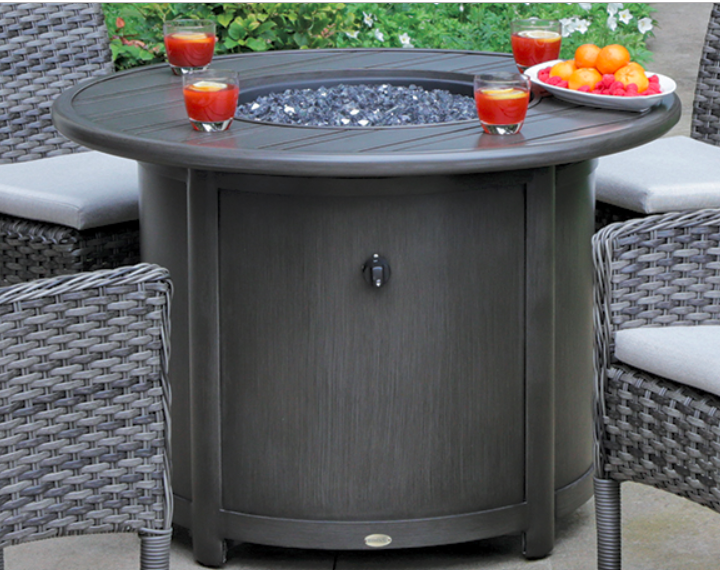 Ash Grey Round Dining Height Fire Table Ratana.png