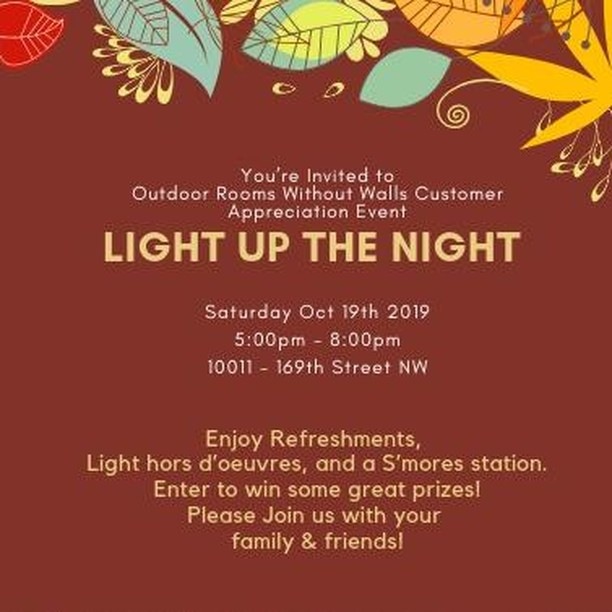Please join us, Saturday Oct 19th, 2019 ⏰5:00pm - 8:00pm 📍10011 – 169th Street NW 🍻Enjoy Refreshments, Light hors d'oeuvres, S'more's station! 🎉Enter to win some great prizes  🔥 In addition, there will be Great Deals on in-stock Fire Tables!  FREE Vinyl Covers on all OCG new fire table orders before October 31st Thinking about replacing your furniture next year?  Take advantage of our 2020 Pre-Buy Program!   6 equal payments, interest-free on all furniture and fire table purchases along with with 10% off and FREE delivery in Spring!     . . . . .   #yeg #yegevents #yegstyle #yegarts #yegfashion #shoplocal #yegdt #mensstyle #edmonton #shopyeg #yyc #yeggers #accessories #style #repost #supportlocal #madeinyeg #yegblogger #yegbiz #madeincanada #yegshoplocal