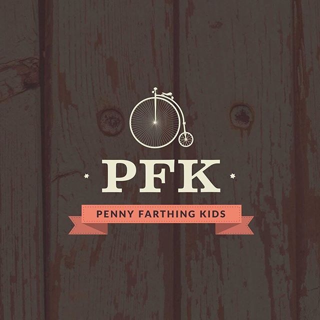 Flashback to the fun branding for Penny Farthing Kids which I haven't posted on insta before.  PFK for sure is a fun but high end children site featuring all the new mumma could want for their bub.  Love the vintage retro feel of the penny farthing bike with the bright coral.  What do you think?