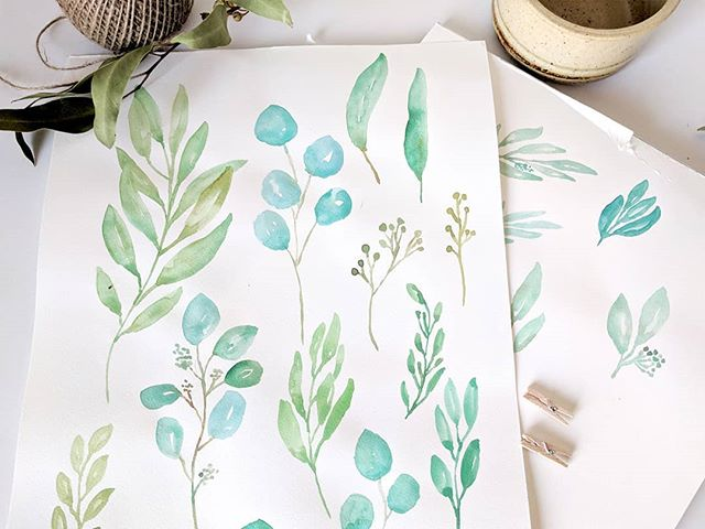 Action shot from inside the studio - all those little watercolour elements 🍃👌 . . . #thedaydreamcreative #graphicdesigner #weddingdesign #graphicdesign #melbourne#melbournedesigner #graphicdesignerofinstagram #watercolour #logodesign #handmade #handlettering #logodesigner #handtype
