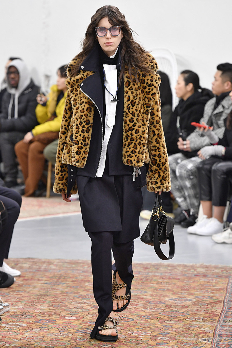 Sacai FW19 by Chitose Abe. That leopard print biker is fire!