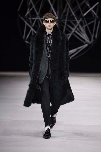 Celine Winter 19 by Hedi Slimane. The fur is Fire.