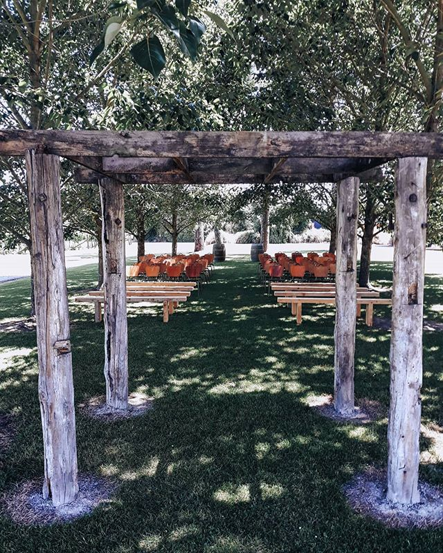 The Woodland Chapel  This dreamy outdoor ceremony space comes complete with a log arbour beneath a treetop canopy reminiscent of a natural chapel. It's the favourite amongst our couples with the vineyard as a backdrop!  Check out what we can do for your big day  https://opihivineyard.co.nz/weddings  Or send us an email enquiry at opihivineyard@gmail.com - - - - #vineyardwedding #nzvineyard #woodlandchapel