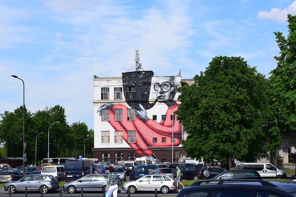 Famous Street Art in Kaunas, Lithuania