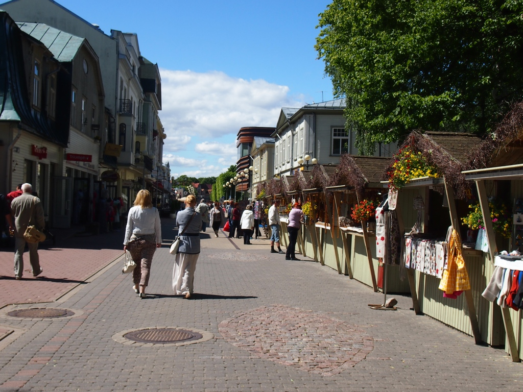 Jurmala's pedestrian street