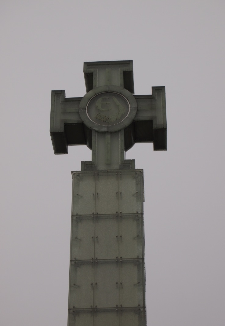 Cross in Freedom Square in Tallinn, Estonia