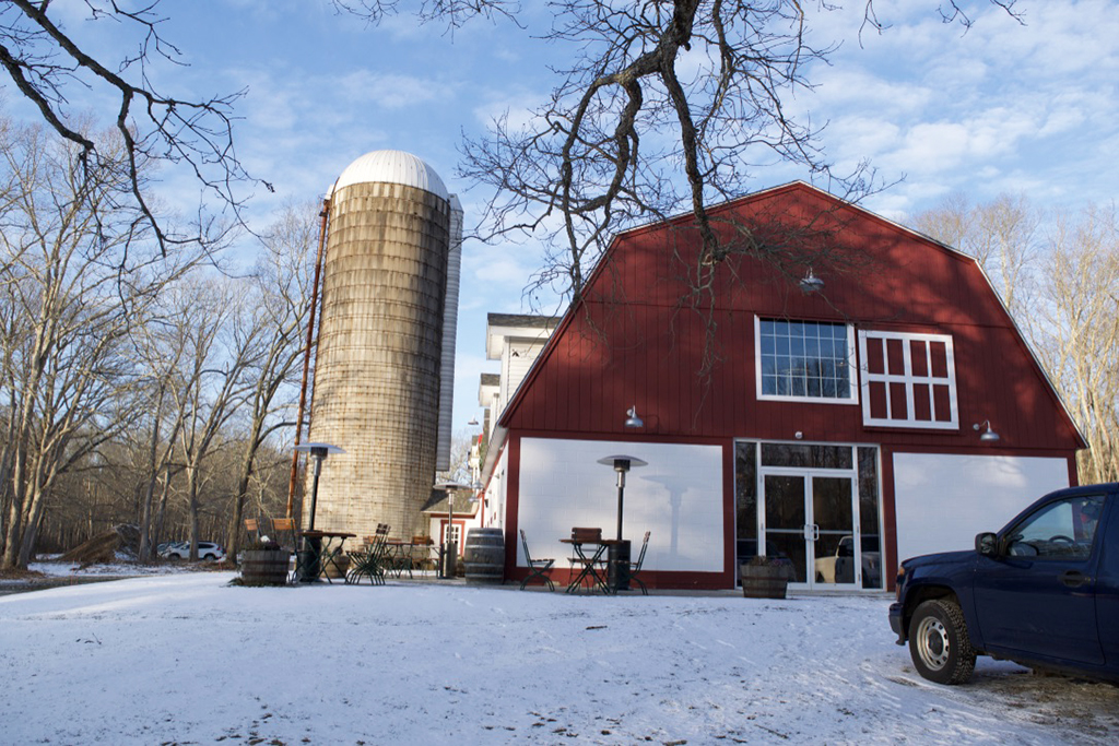 The delicious Fox Farm Brewery in Salem, CT