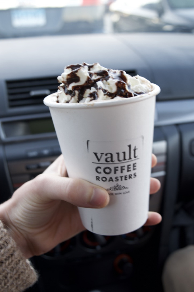 Mocha from Vault Coffee Roasters, my fav. coffee shop in Mystic, CT