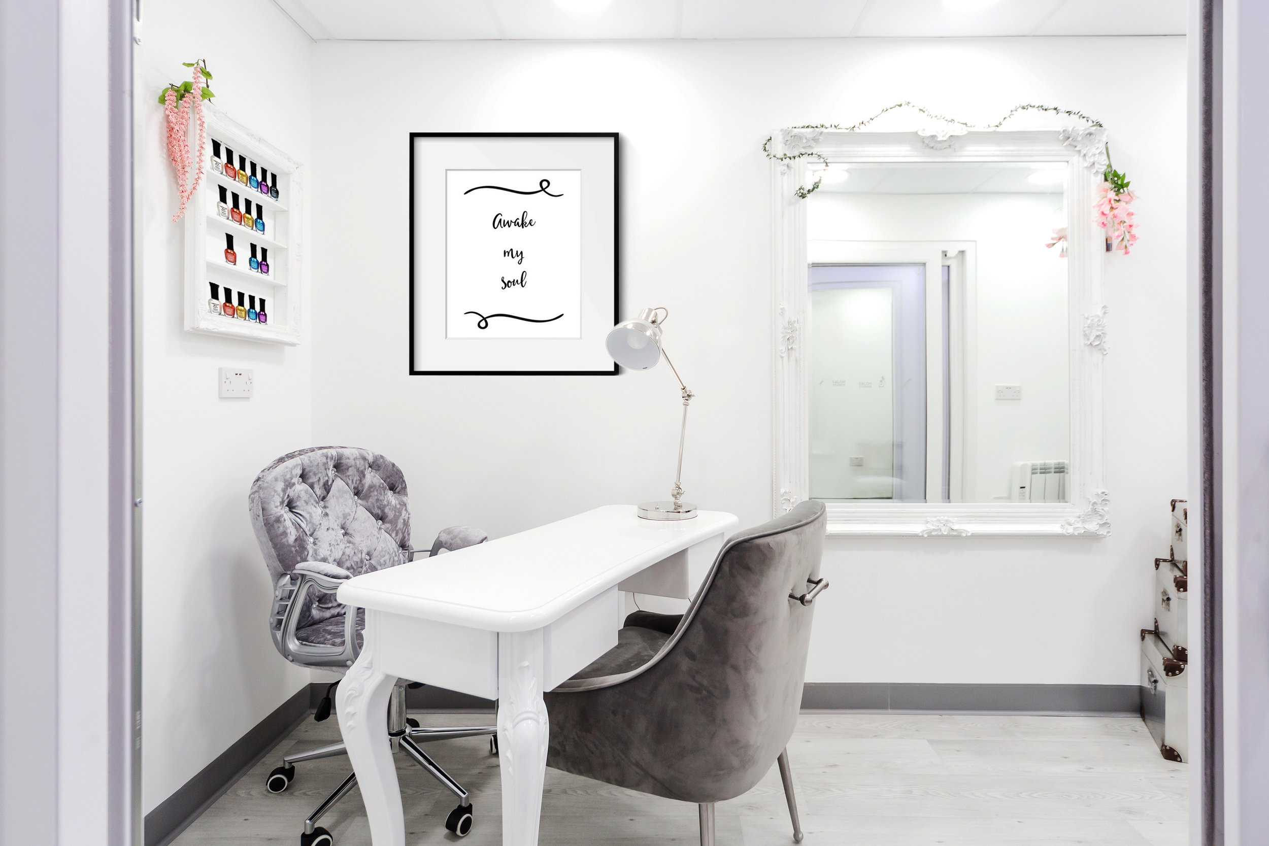 Our beautiful nail salon could soon be your home! Images of beauty salons available on request.