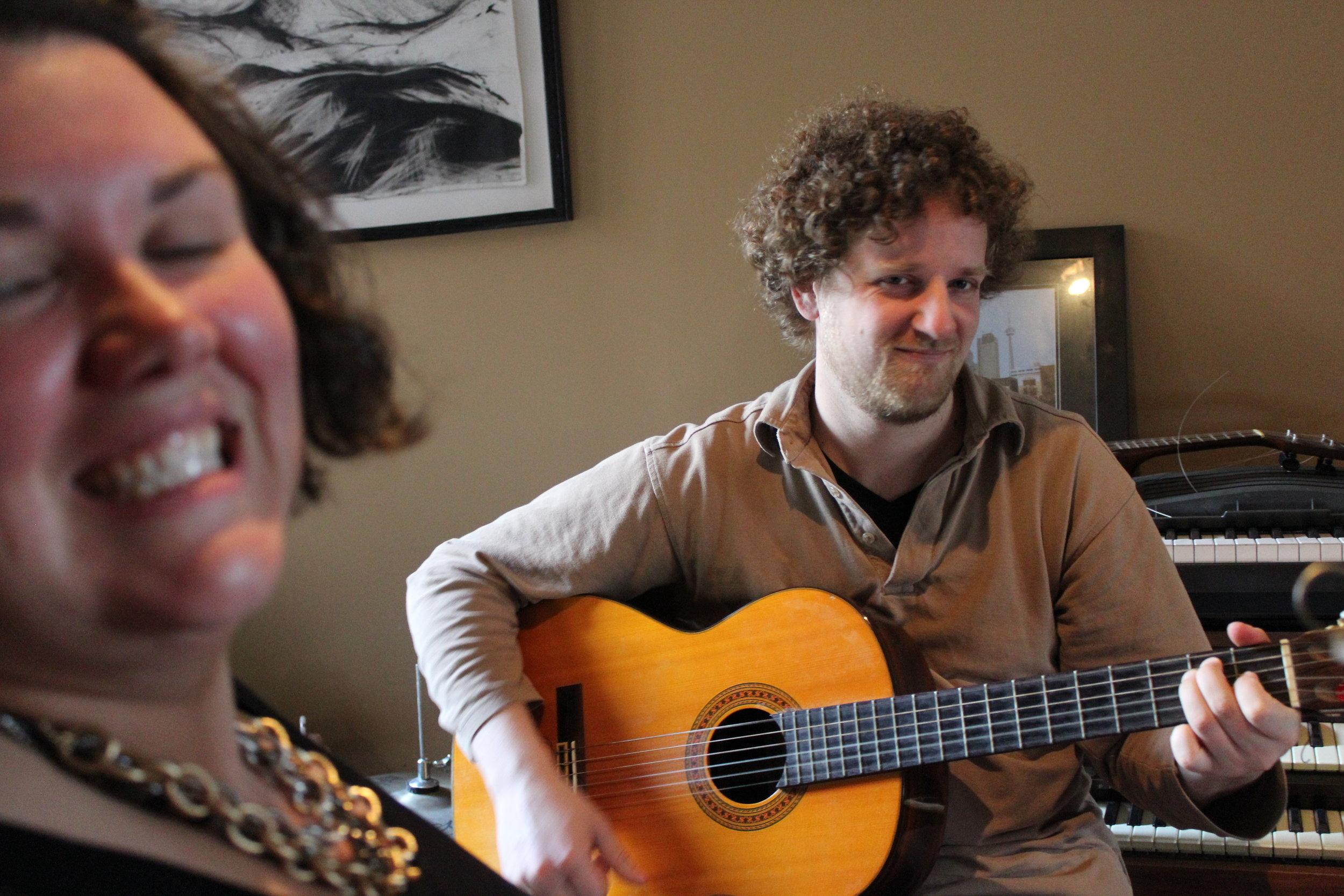 Caitlin Holland & Chris Adriaanse, rehearsal Alluvial Plain