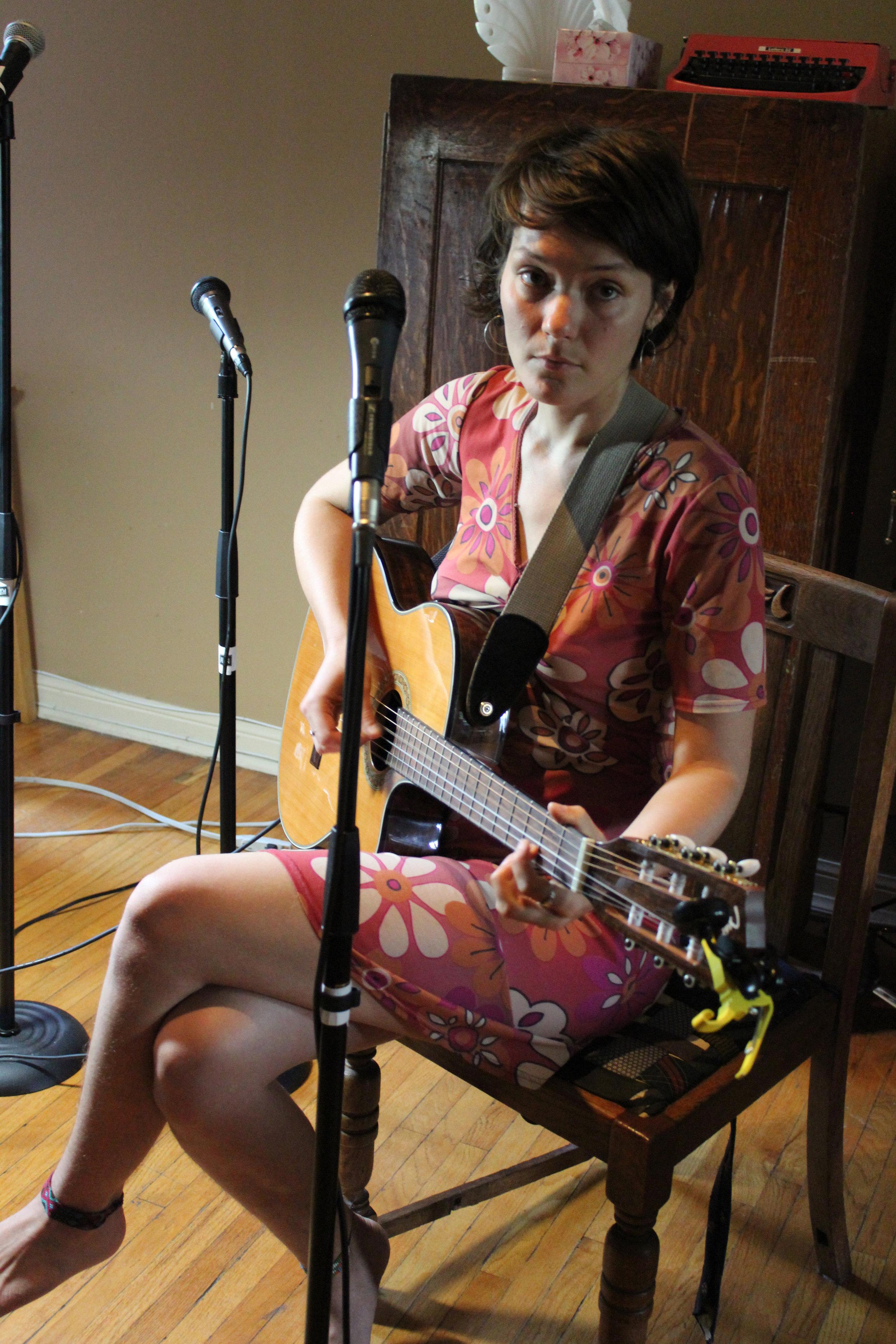 Olivia Blu, rehearsing, Alluvial Plain