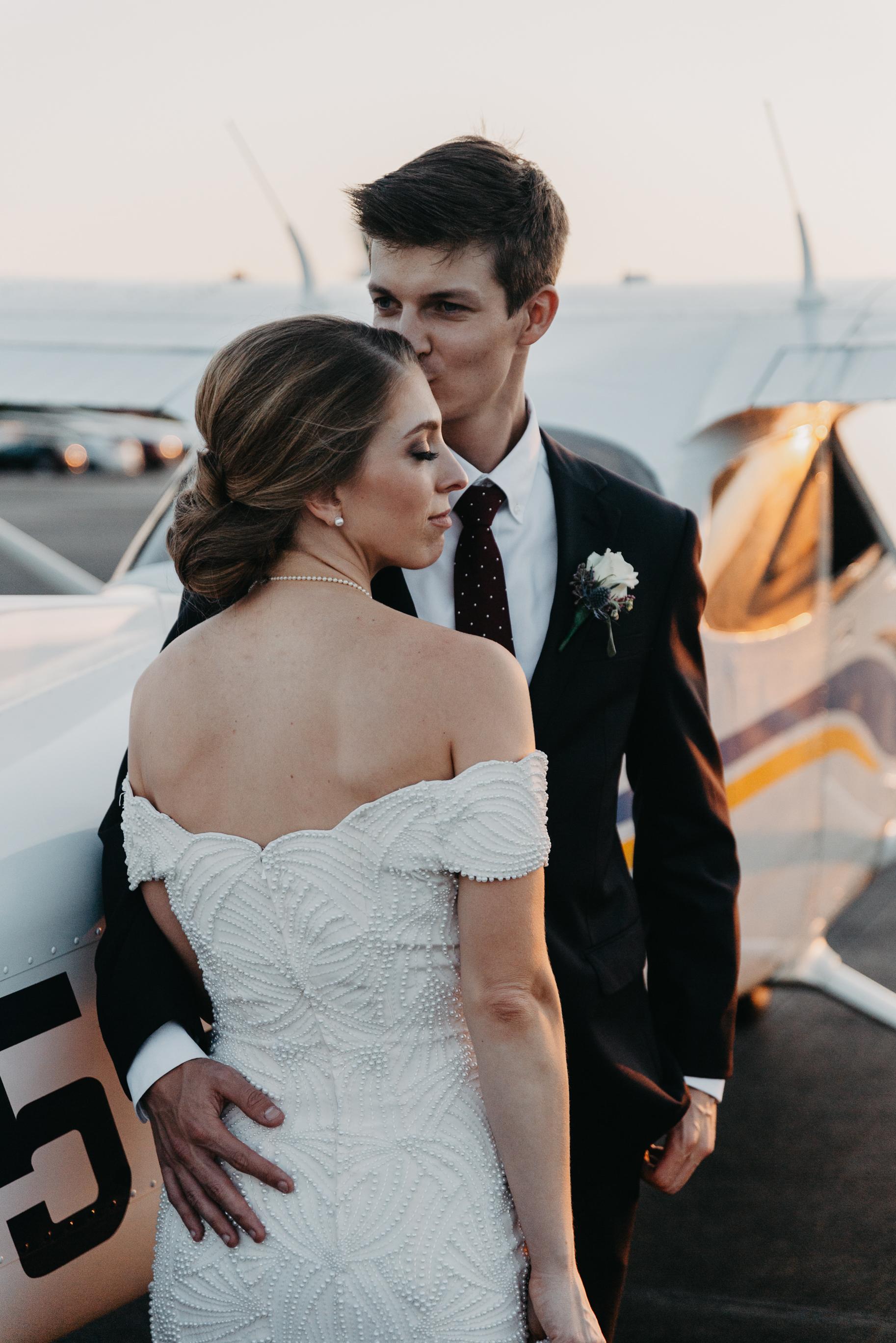 TRAVIS + MEG | An October Wedding at Louisville Executive Aviation