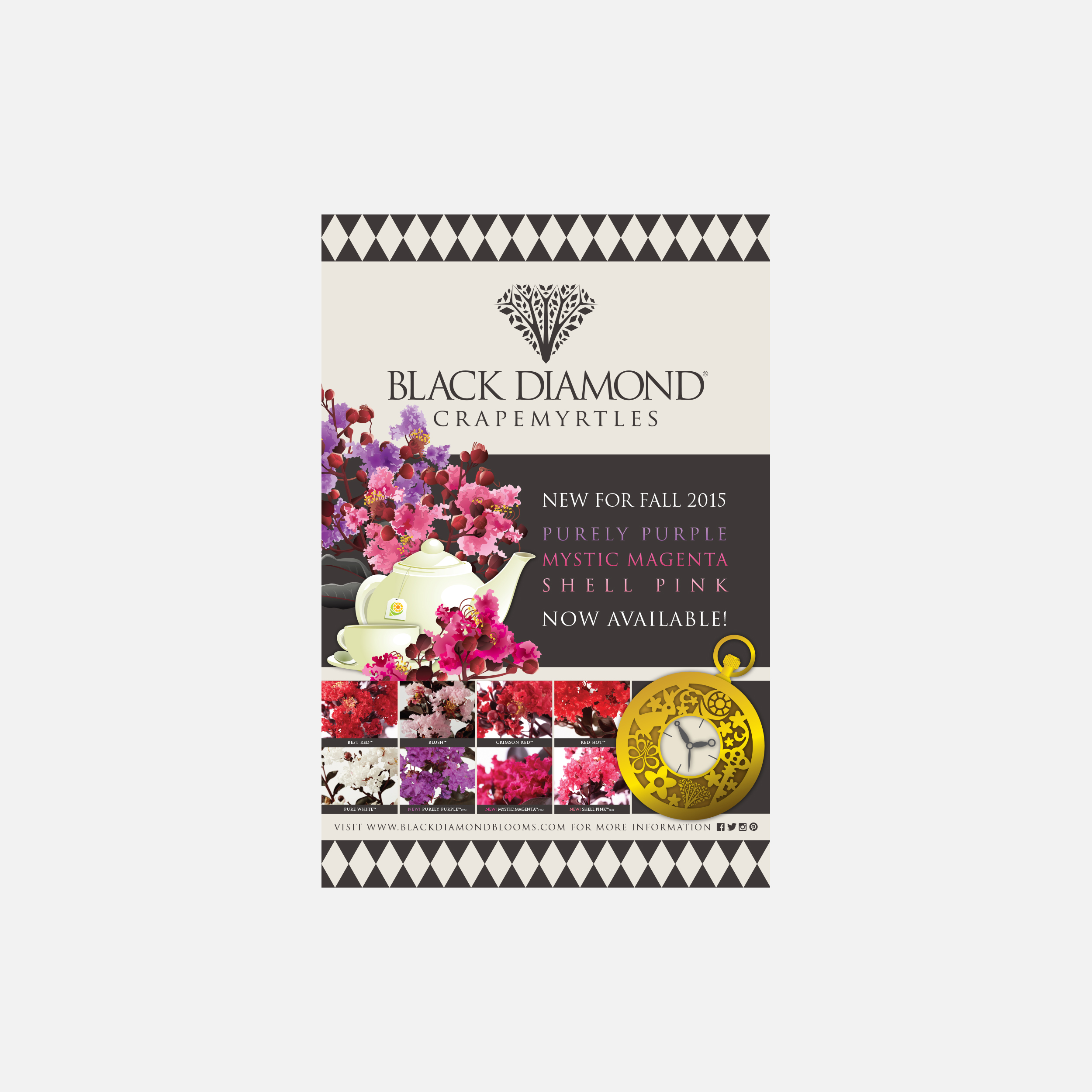Black Diamond Crapemyrtles trade show poster