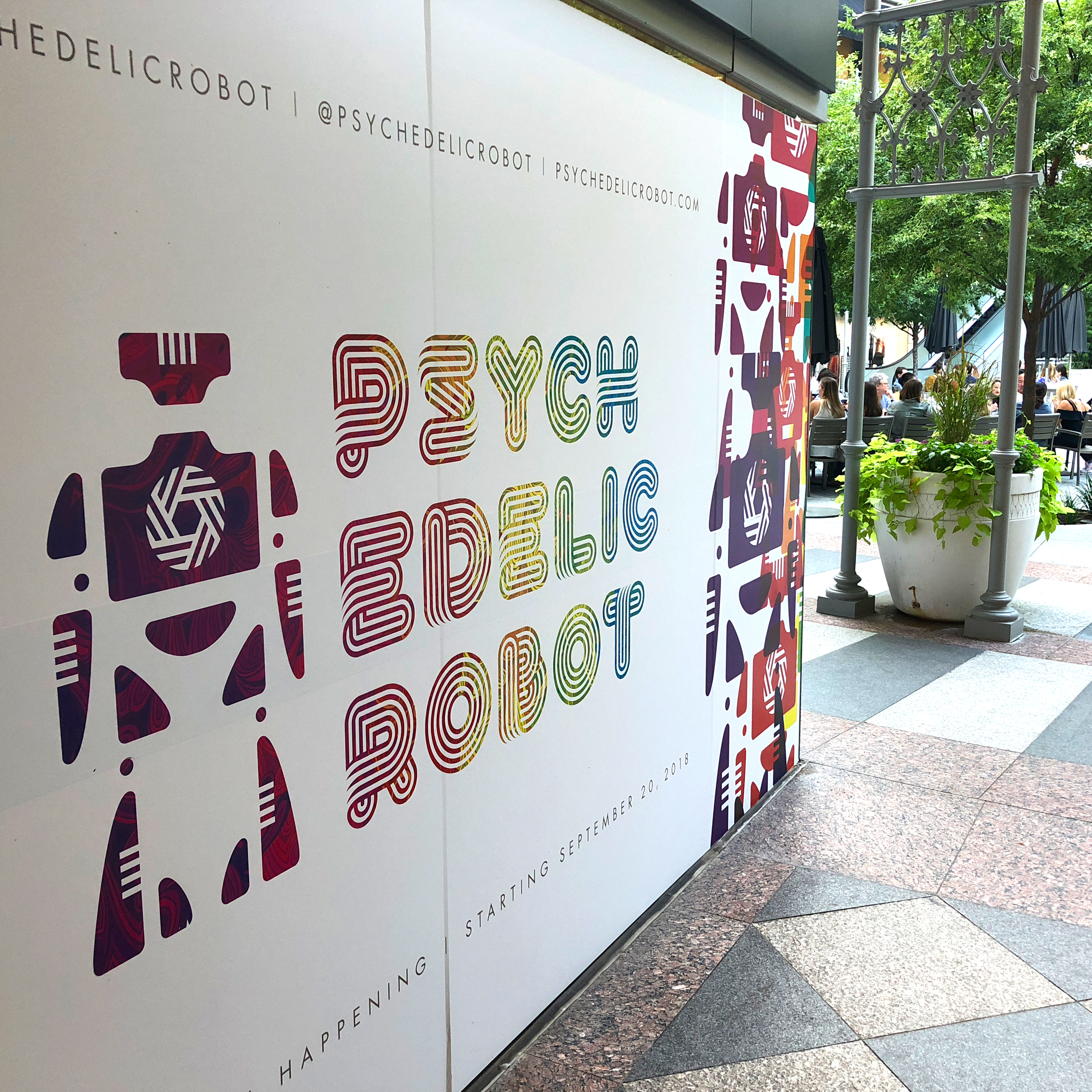 Psychedelic Robot outdoor signage