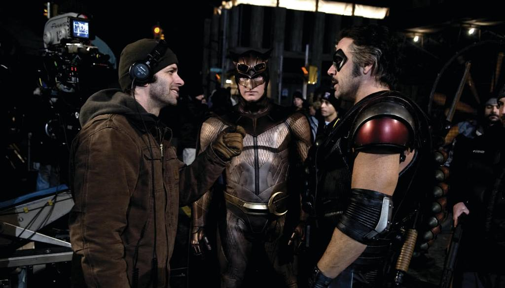 Zack Snyder on the set of  Watchmen