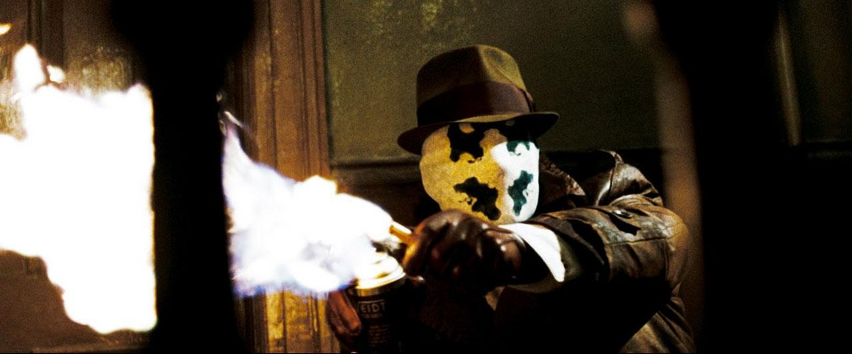 Jackie Earle Haley as Rorschach in  Watchmen  via Warner Bros.