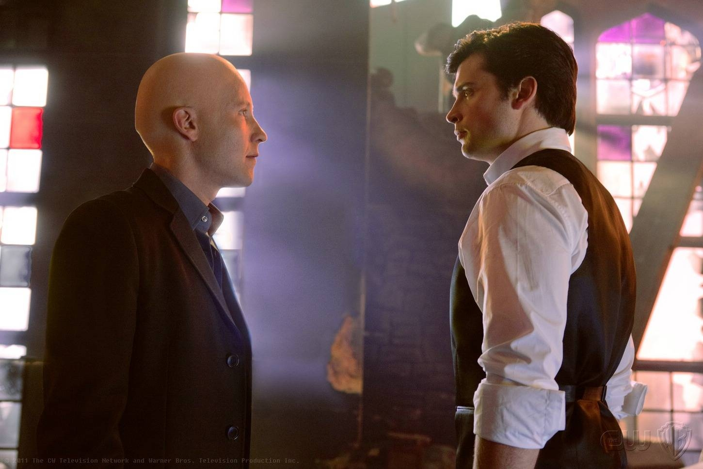 Michael Rosenbaum as Lex and Tom Welling, as Clark, reunited in the series finale
