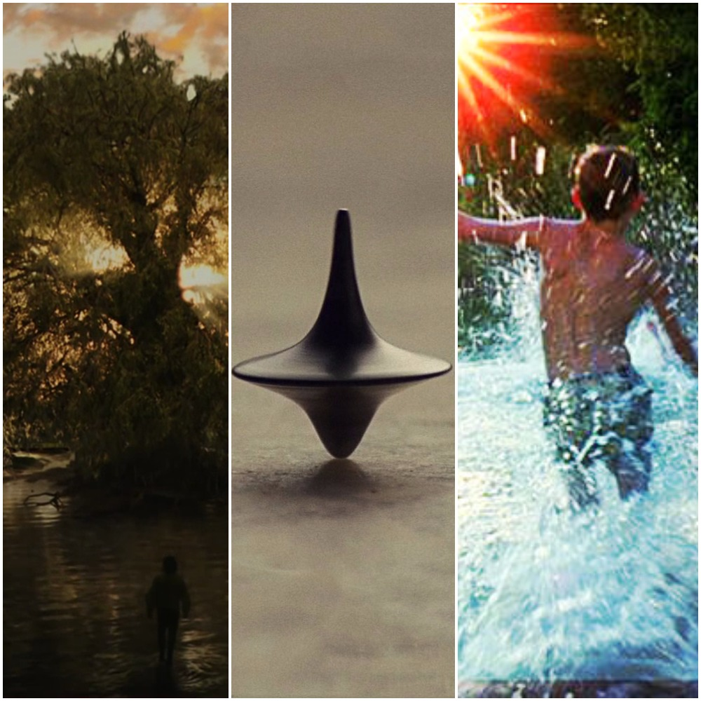 Stills from  The Fountain, Inception,  and  The Tree of Life