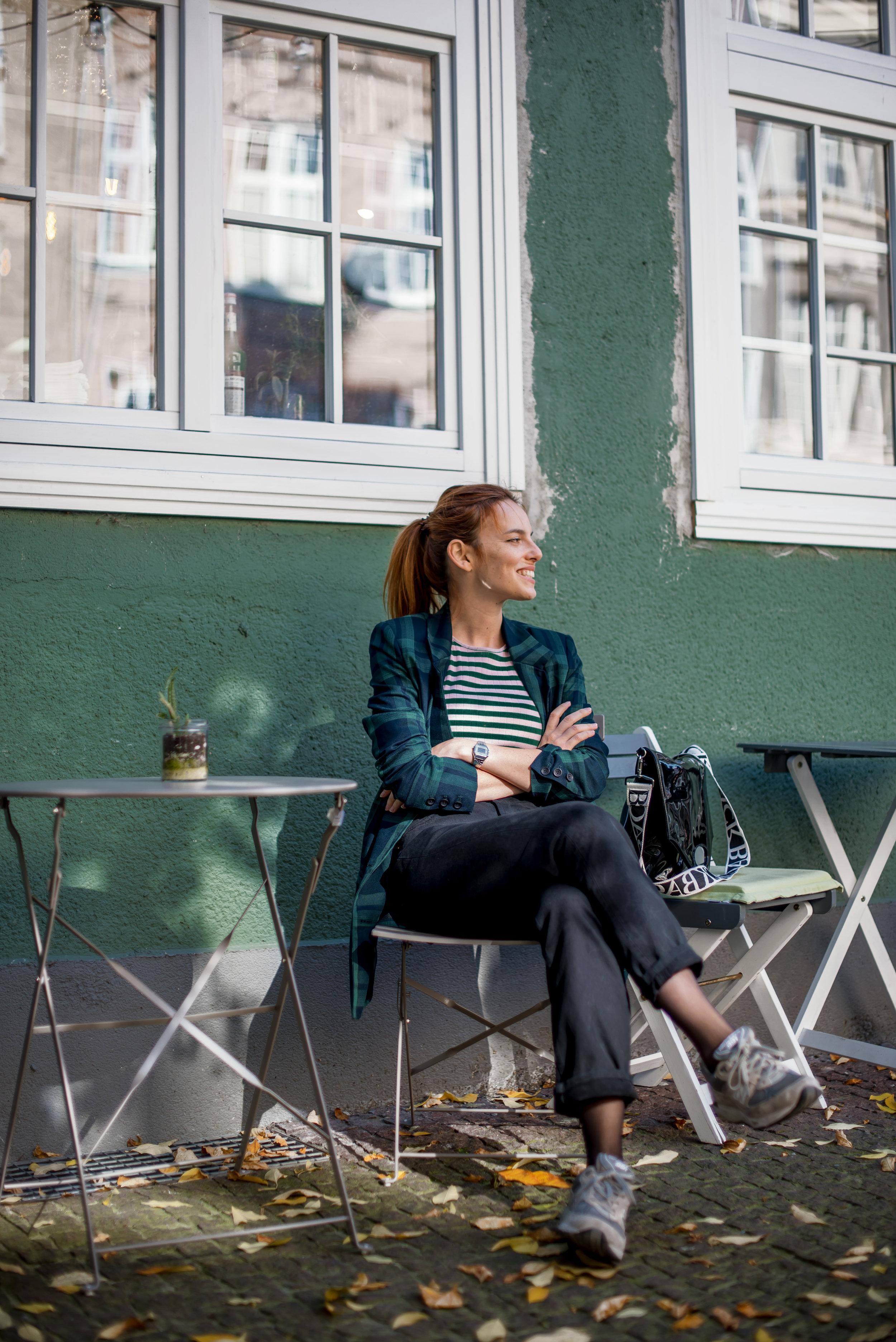 Gestuz blazer // Mads Norgaars top // New Balance sneakers