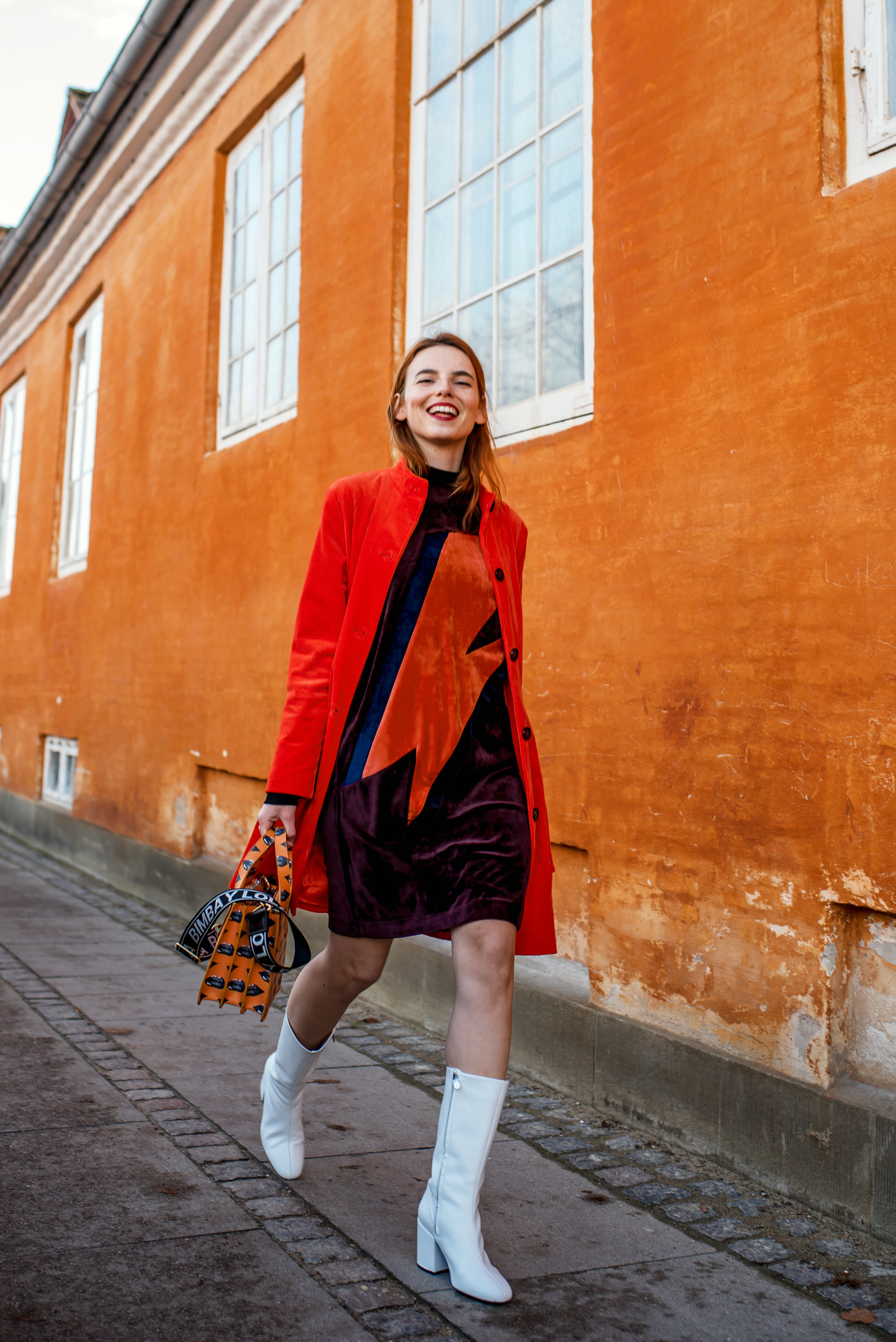 Ganni coat // 2nd Day dress // Bimba y Lola bag // Mango boots