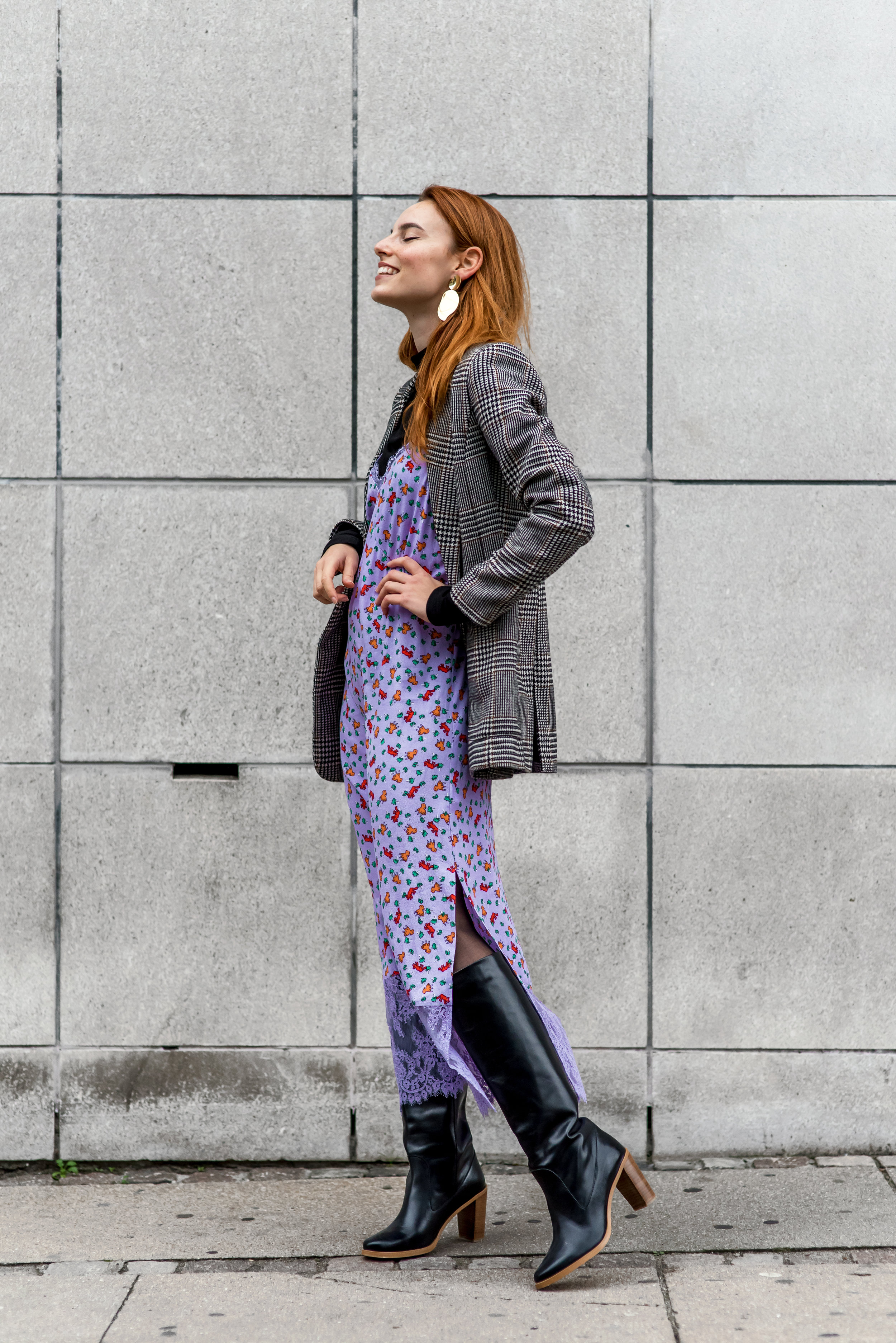 H&M blazer // & Other Stories dress // Won Hundred boots