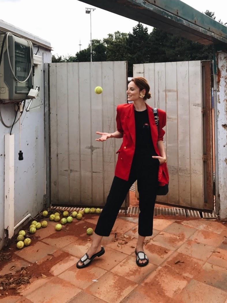 Burberry jacket // Bimba y Lola bag // Acne Studios slippers