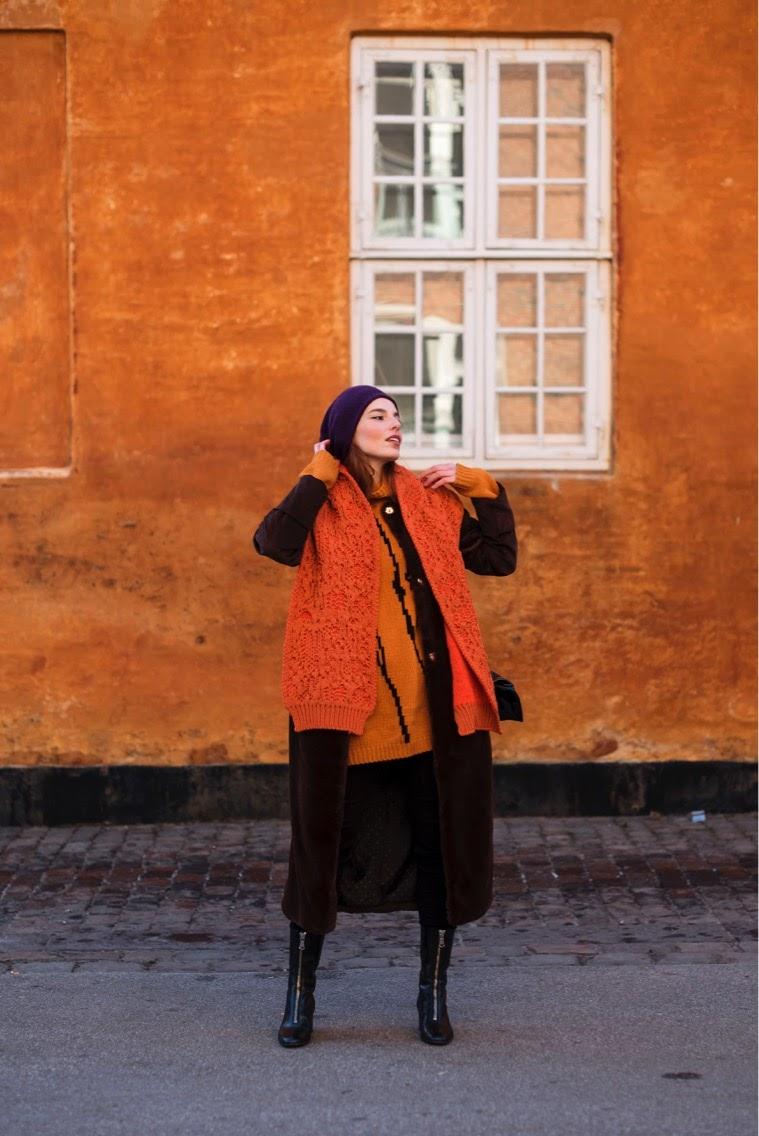 Acne Studios scarf and knit // Baum und Pferdgarten coat // COS hat