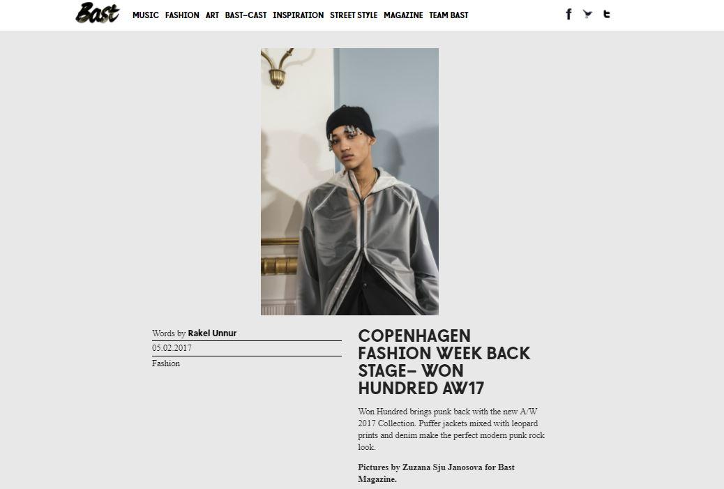 BAST Magazine - Won Hundred AW 17 Backstage