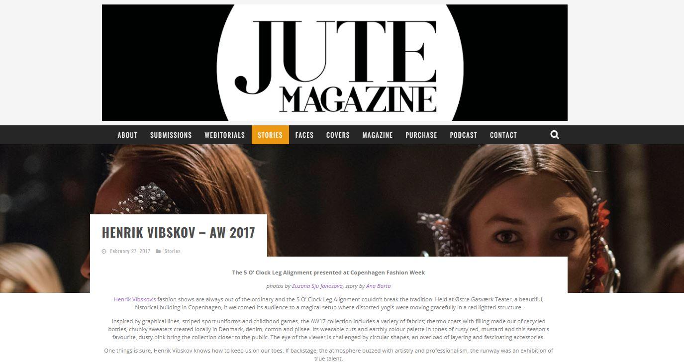 JUTE MAGAZINE - Henrik Vibskov AW17 Backstage