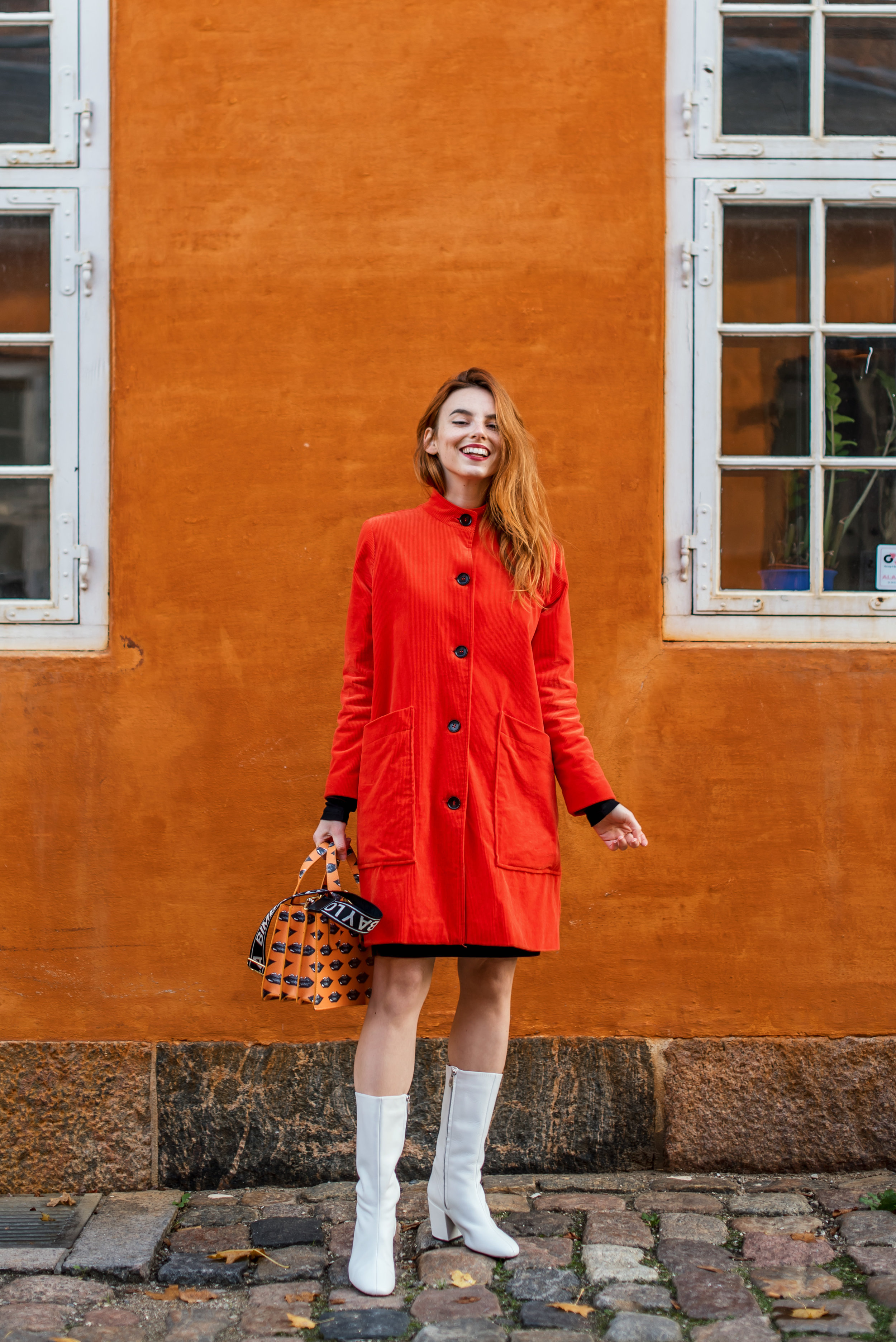 Ganni coat // Mango boots // Bimba y Lola bag