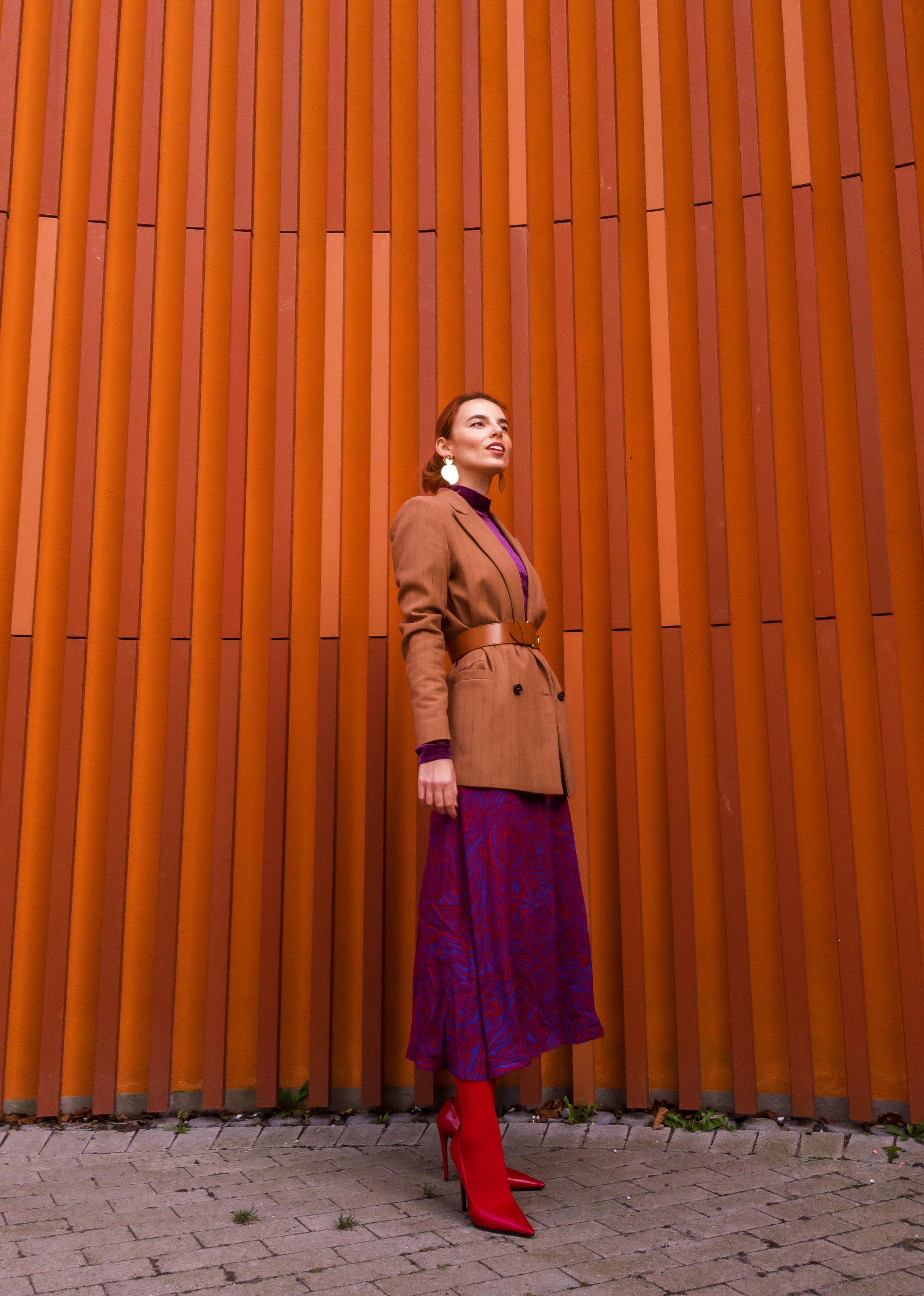 Ganni blazer // & Other Stories skirt and belt // Prada shoes