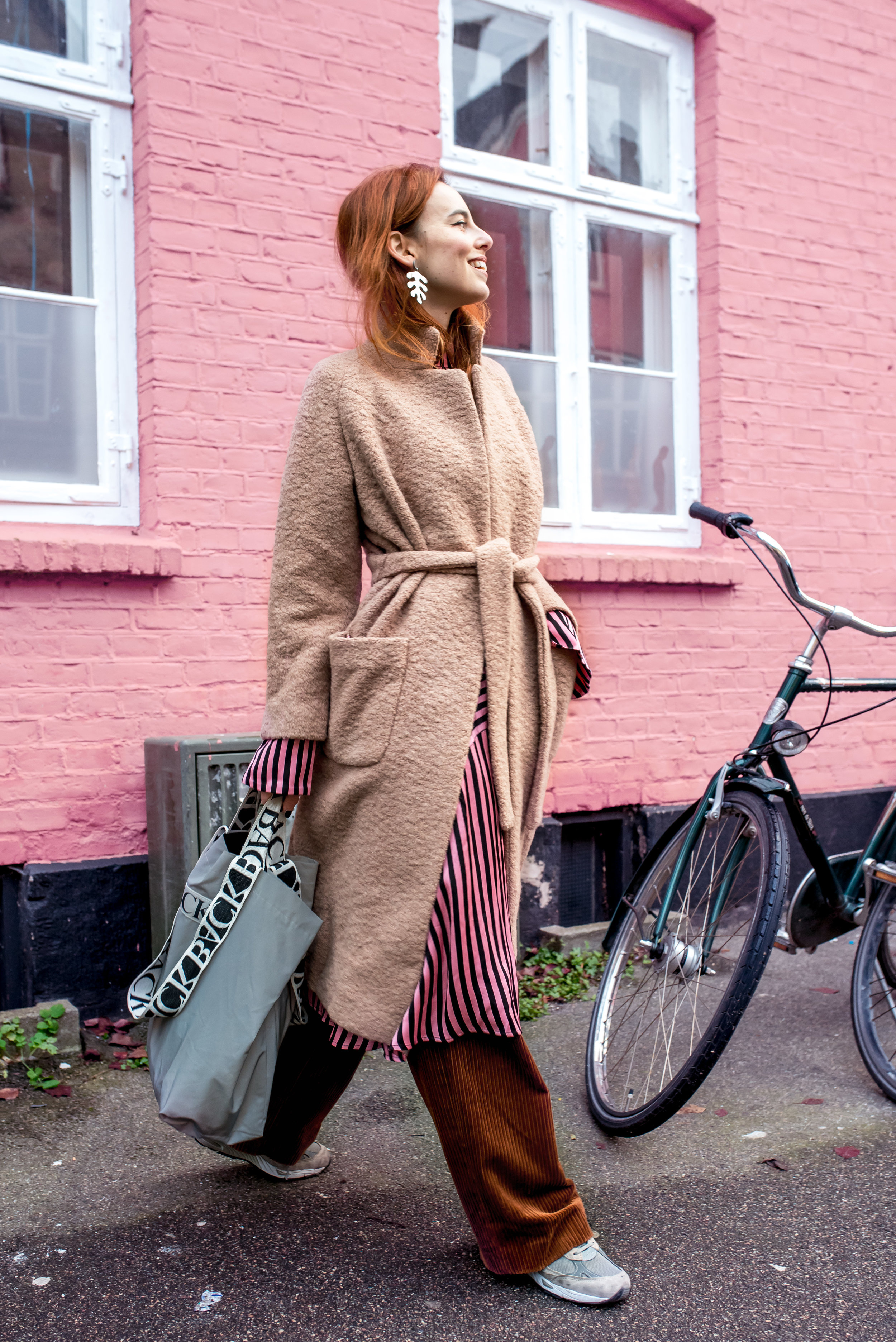 Ganni coat // H&M dress and pants // BACK bag