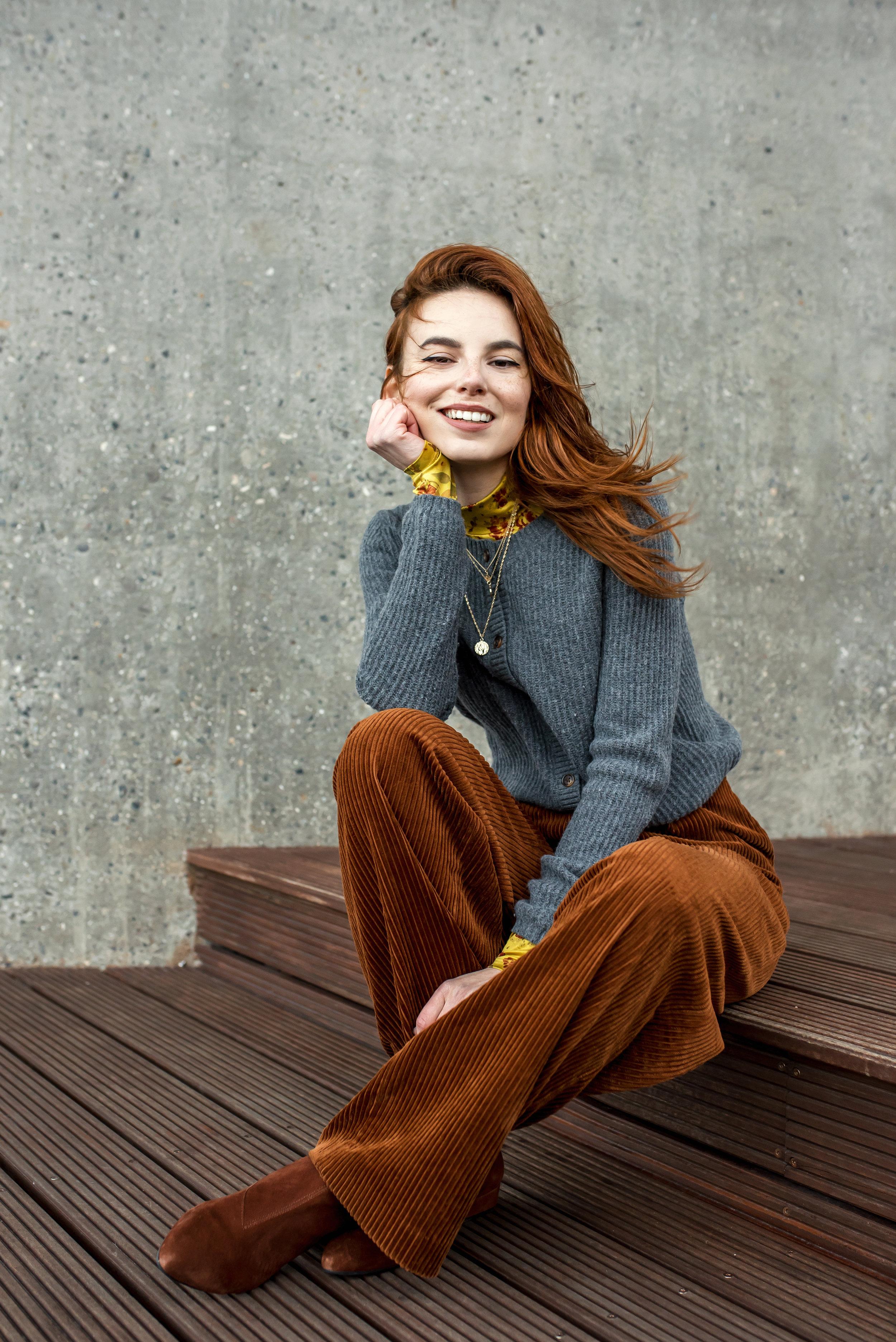 Second hand sweater // H&M pants // Vagabond shoes