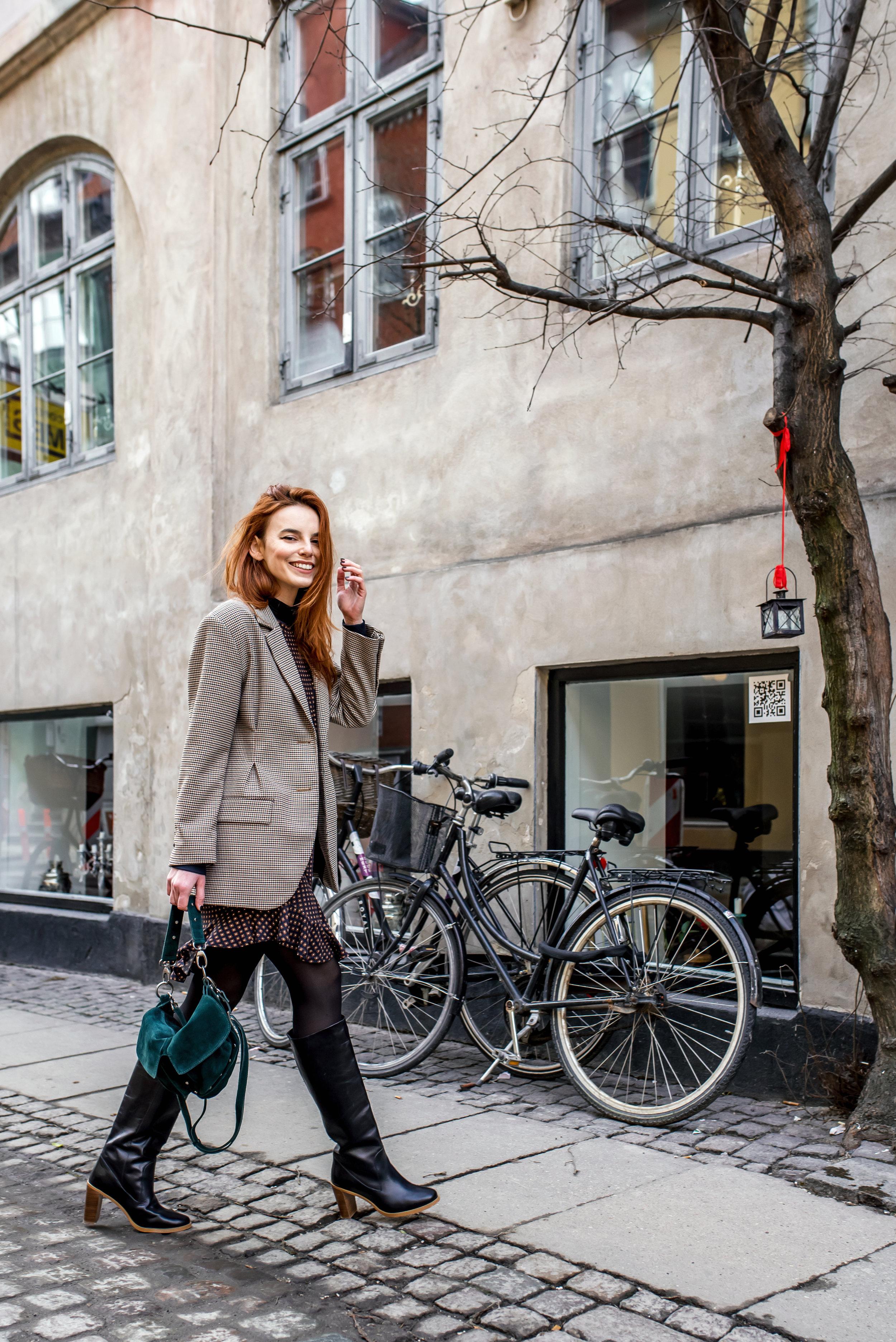 Zara blazer // Won Hundred boots // Unlimited bag
