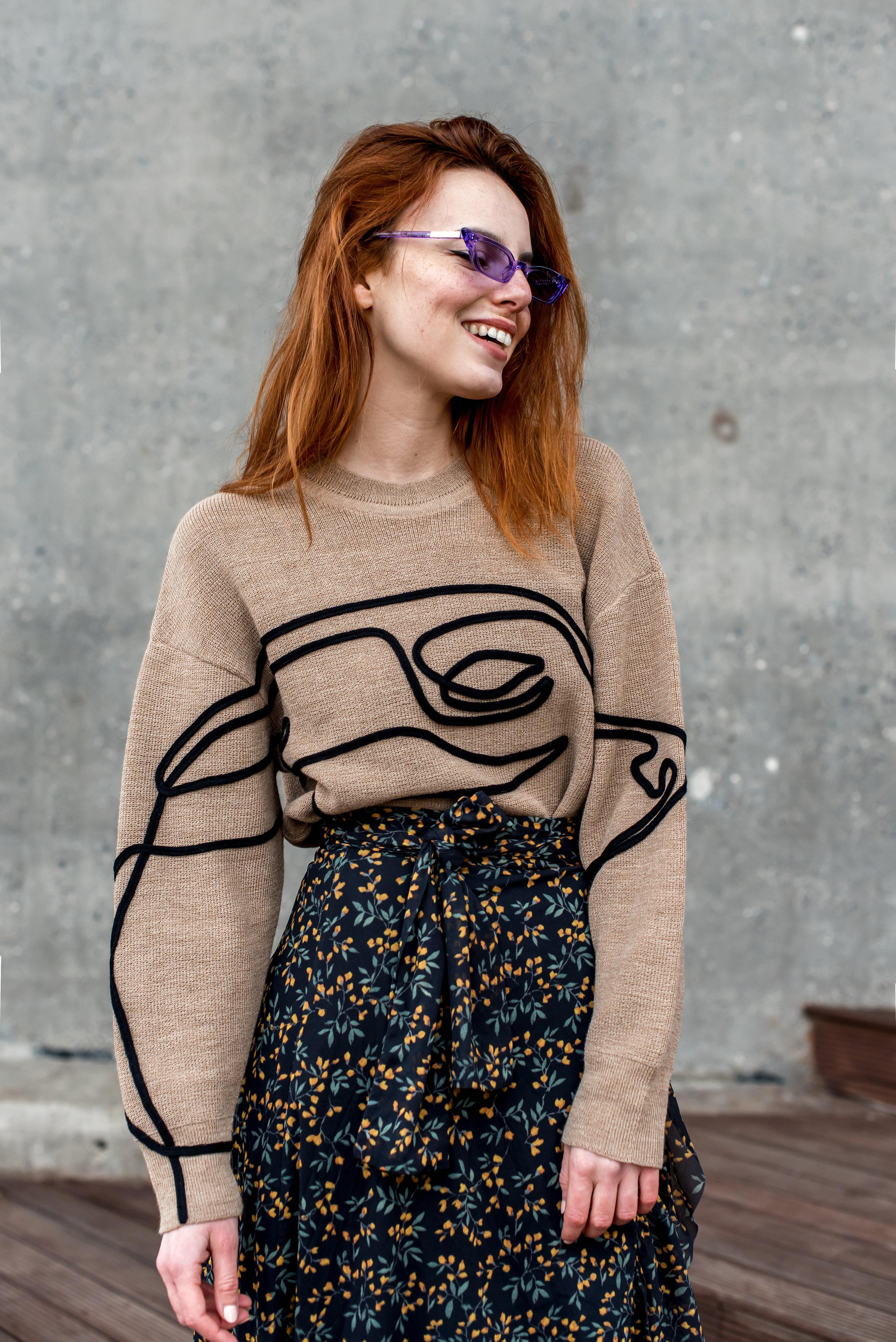 Aeron sweater // Ganni skirt // Poppy Lissiman sunnies