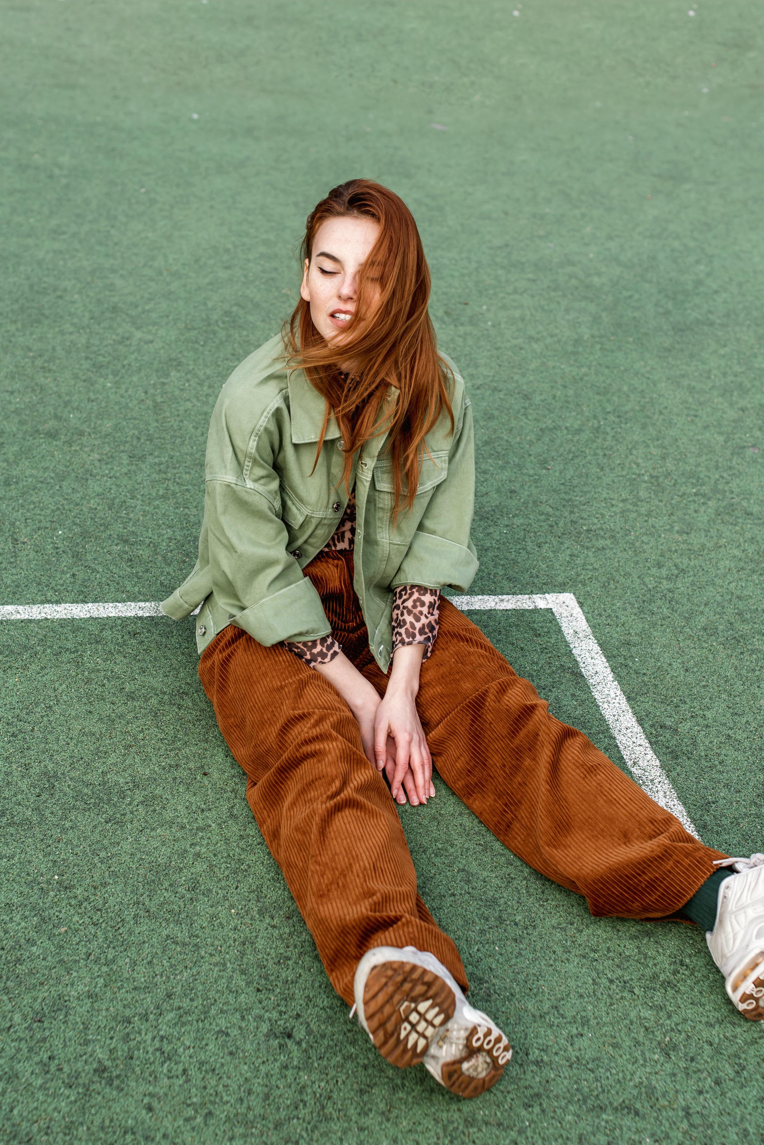 Weekday jacket // H&M pants // Ganni top