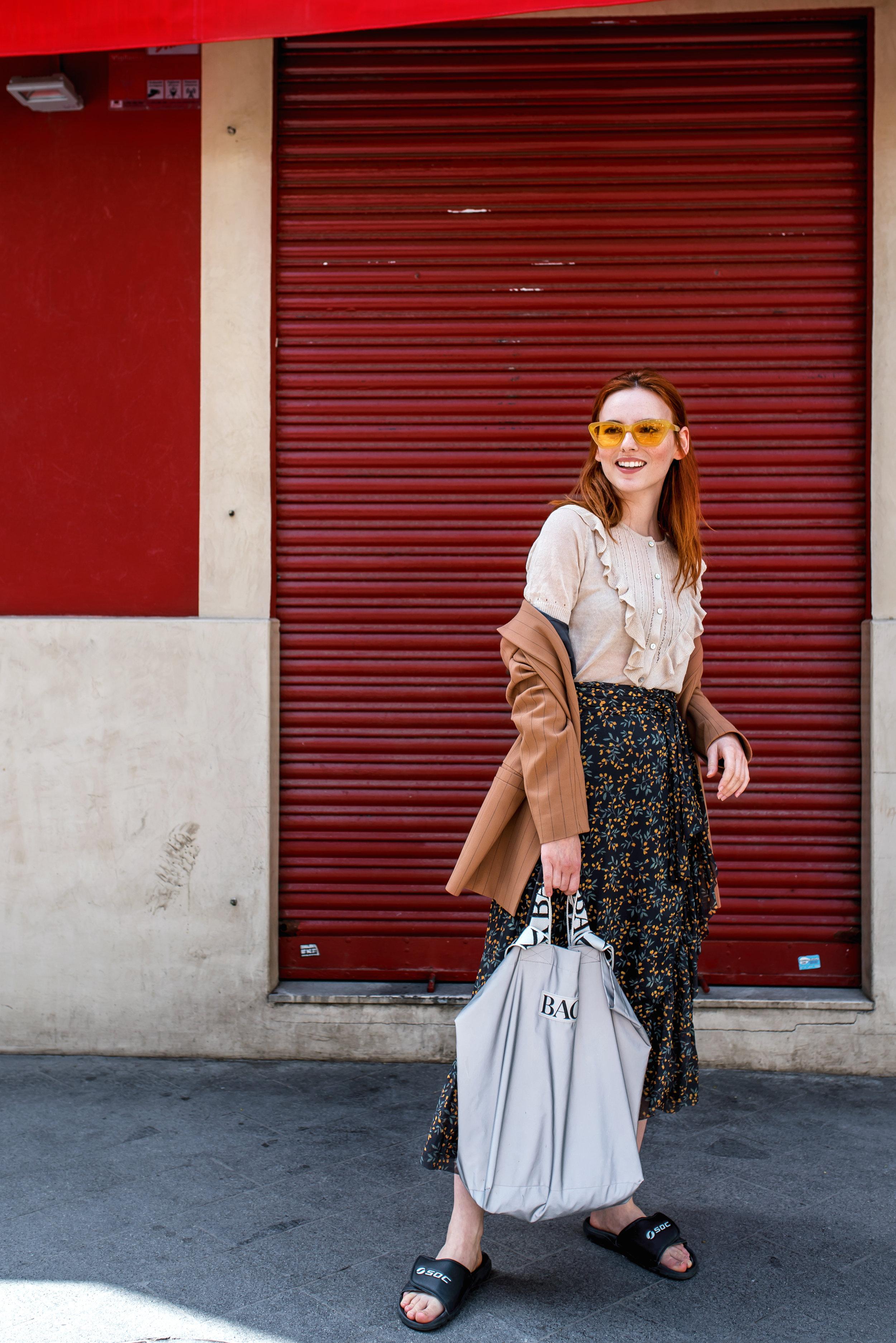 Noa Noa top // Ganni skirt // BACK bag // Mango sunnies