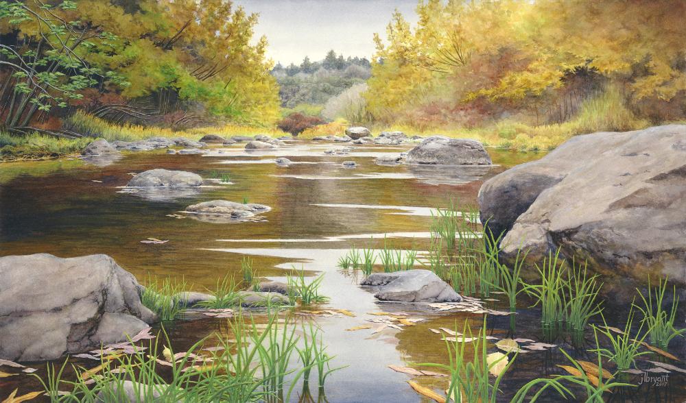 "Owyhee North Fork  watercolor : 14 x 24"" : print $215 : original sold"