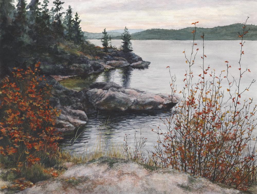 "Tubbs Hill: Autumn  watercolor : 12 x 16"" : print $115 : original sold"