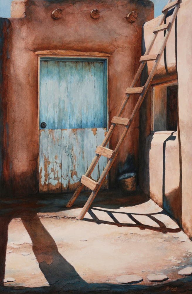 "Corner Door  watercolor : 28.5 x 19"" : original NFS"