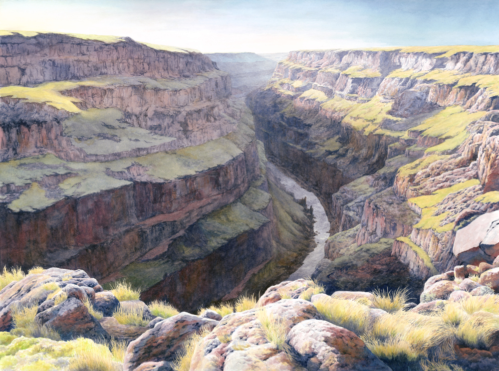 "Bruneau River  watercolor : 22 x 30"" : print $275 : original available"