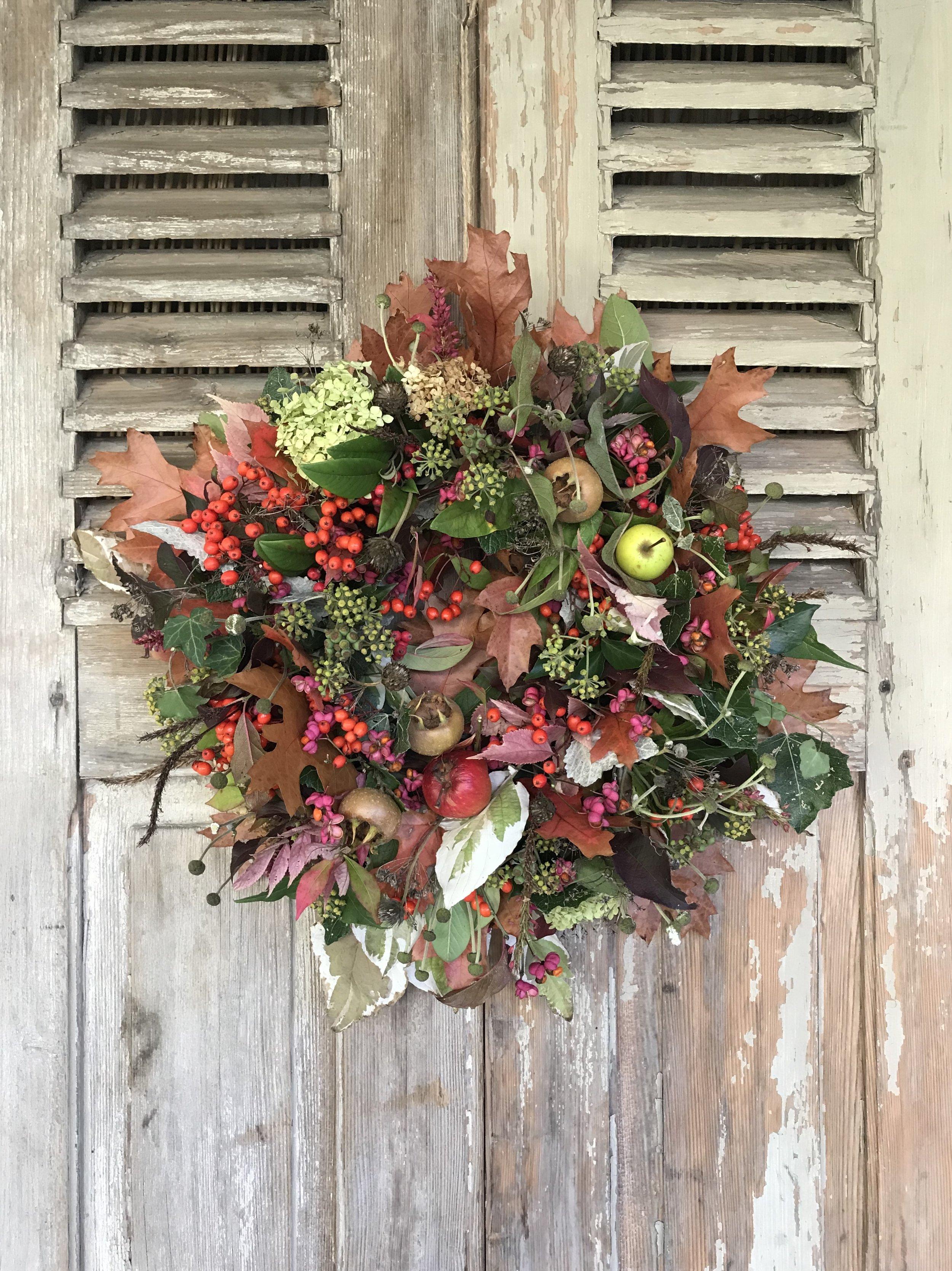 Foraged wreath by The Wildgirls.