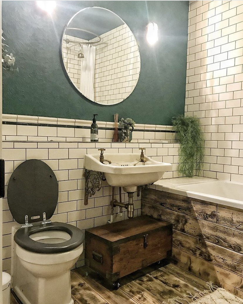 One of the two beautiful Homeplace Holiday Let bathrooms - this got over 6000 likes on Instagram when I posted it.