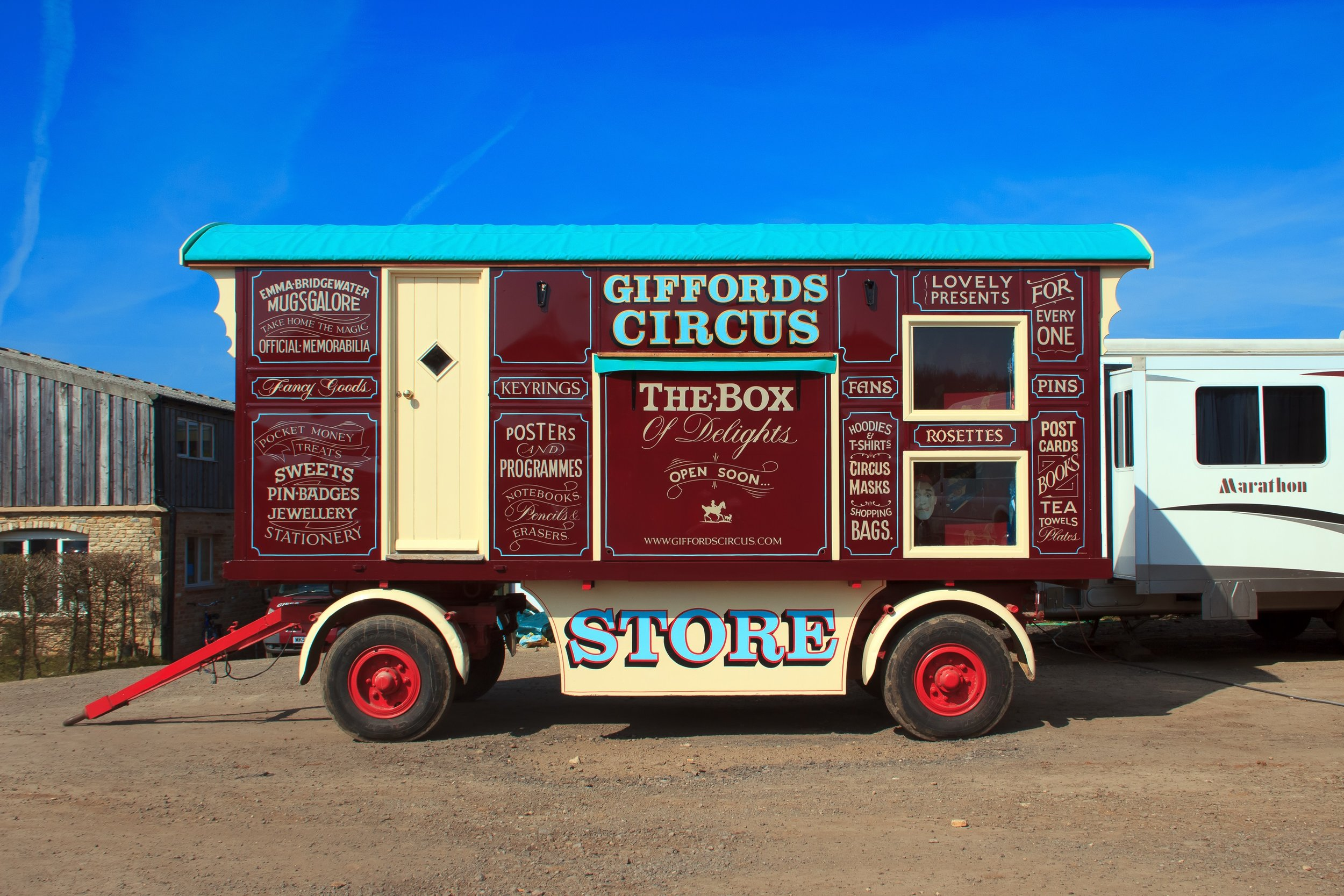 Giffords caravan - hand built and hand painted. Photo:  Jack Ball