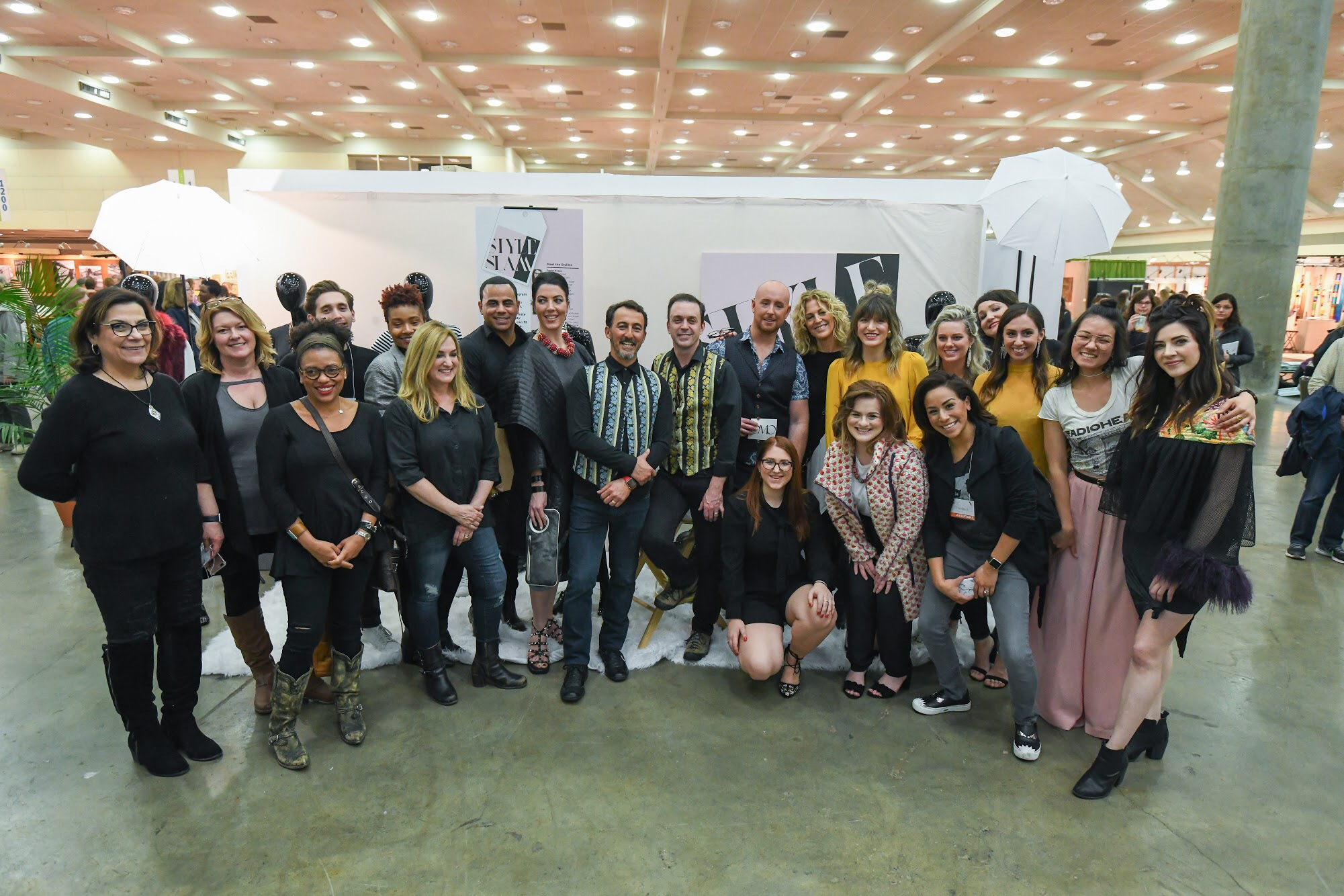 The hair and makeup artists, stylists, models, and moderators of Style Slam 2018.