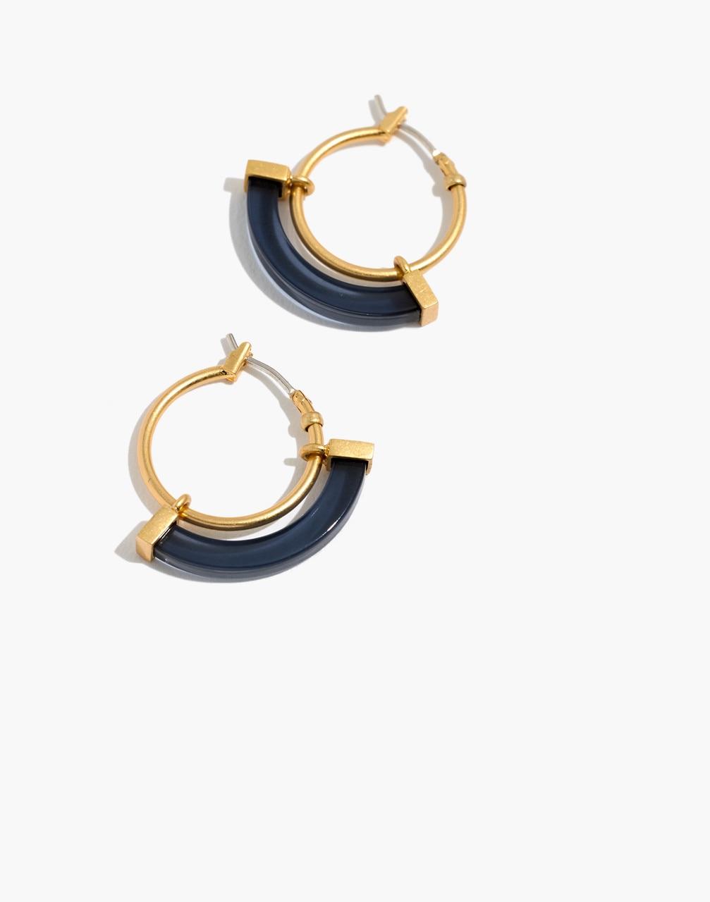 Resin Sliding Hoop Earrings - Madewell